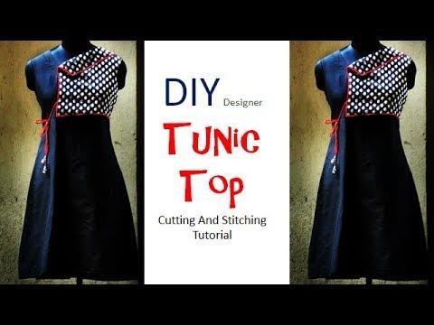DIY Designer Tunic Top Cutting And Stitching Full Tutorial