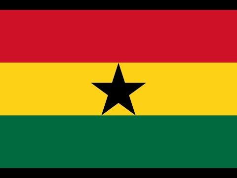 Флаг Ганы.
