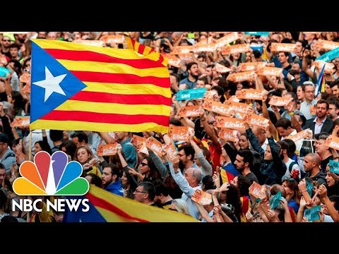 Celebrations As Catalan Parliament Votes For Independence | NBC News