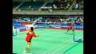 Badminton 2002 Asian Games MS [Lin Dan vs Taufik Hidayat] Game 1/2