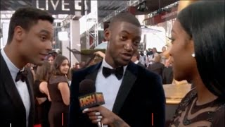 Rege-Jean Page and Malachi Kirby fun interview with Porsha Williams | Emmys 2016 Red Carpet