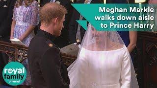 Meghan Markle walks down aisle to Prince Harry