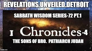 Sabbath WISDOM Series 72 Pt.1  The ROYAL Lineage of JUDAH