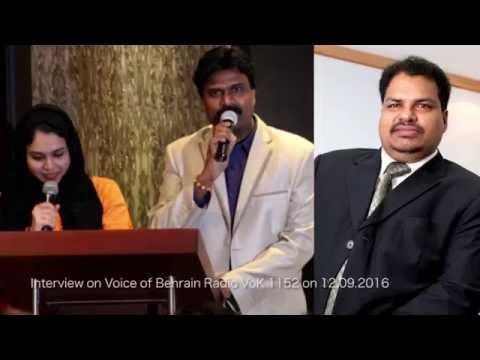 Moideen Koya K.K interacts with Shibu Malayil and Noor in Voice of Bahrain