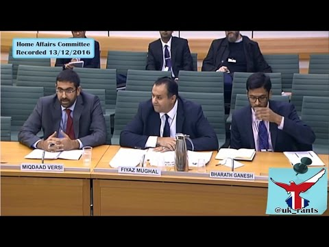 "Home Affairs Committee interview Tell Mama/Muslim Council of Britain. ""Hate Crimes"" Part 1"