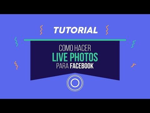 Como hacer Live Photos para Facebook - Mantén presionado con el dedo