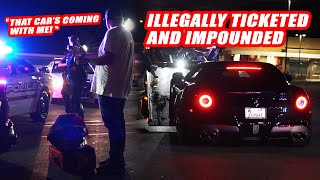 MARYLAND COPS ILLEGALLY IMPOUND & TICKET FERRARI!