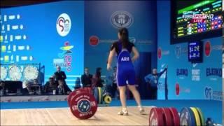 2015 European Weightlifting 58 kg Snatch