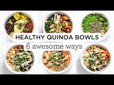 easy-&-healthy-quinoa-bowls-‣‣-6-awesome-ways!