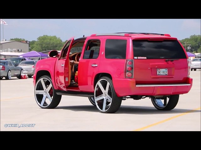 WhipAddict: Outrageous Chevy Tahoe on DUB Baller 30s, Sound System, Custom Interior