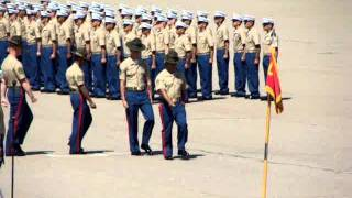 presenting of the flags-MCRD San Diego