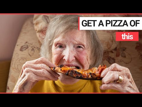 Julie Jones - 94 year old great-grandmother eats pizza for the FIRST TIME