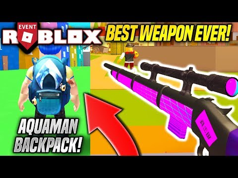 GETTING THE AQUAMAN EVENT BACKPACK IN BANDIT SIMULATOR WITH THE BEST WEAPON!! (Roblox)