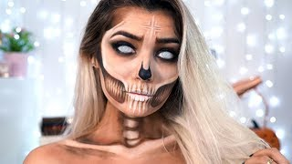 BRONZE SKULL HALLOWEEN MAKEUP TUTORIAL ad