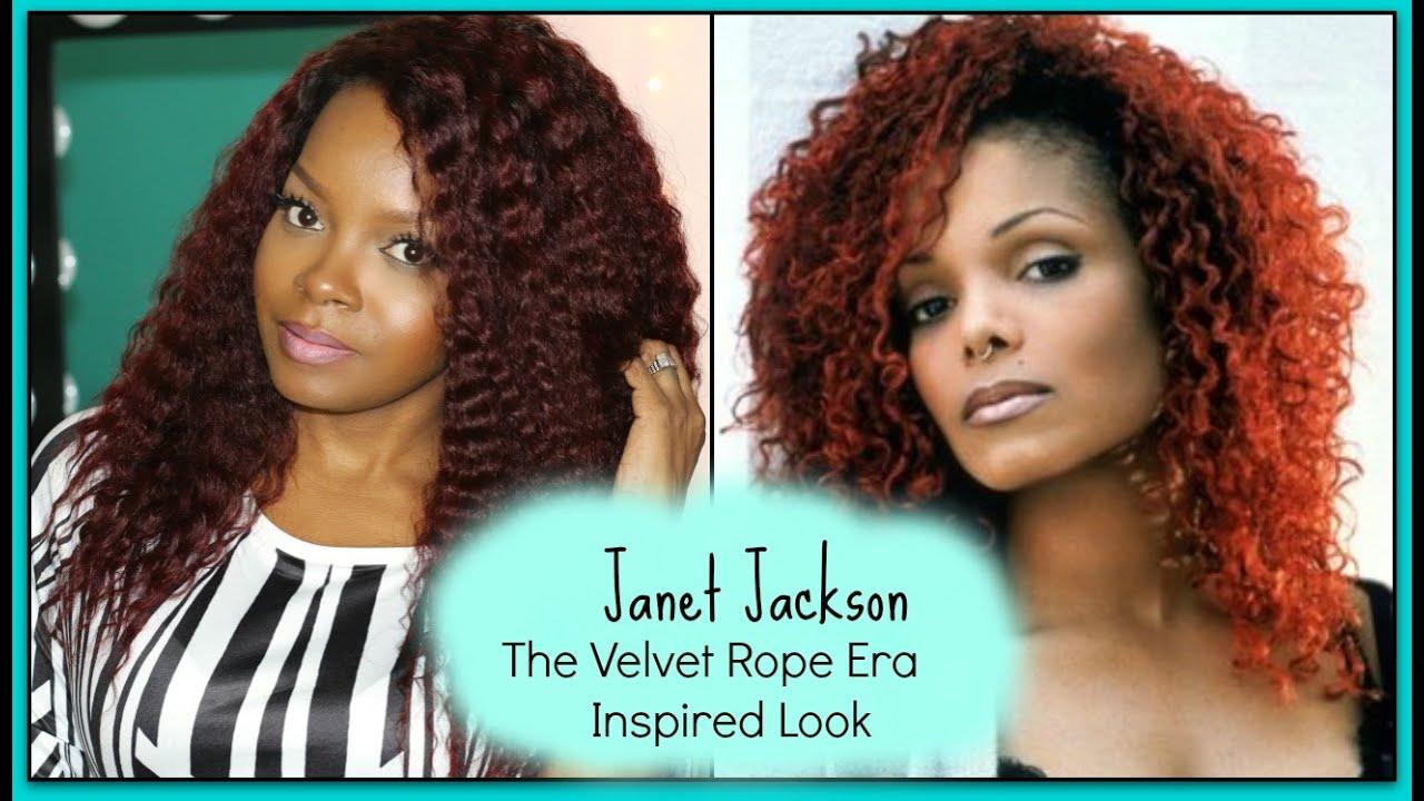 CUTTING & FRAMING MY JANET JACKSON VELVET ROPE INSPIRED LOOK - YouTube