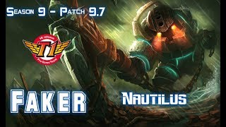 SKT T1 Faker NAUTILUS vs ZYRA Mid - Patch 9.7 KR Ranked