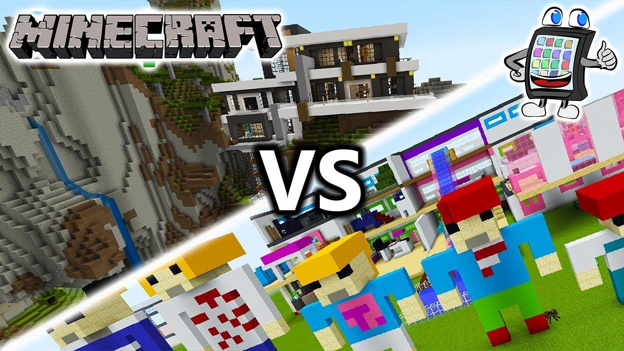 MINECRAFT Playmobil Luxusvilla Vs Moderne Villa Im Berg Welches - Minecraft hauser im berg