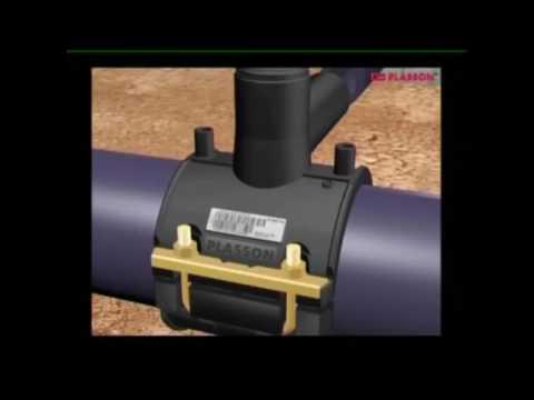 Установка тройника и отвода на ПНД трубу