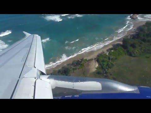 Airbus 320 Jet Blue Landing Puerto Plata (POP) Dominican Republic