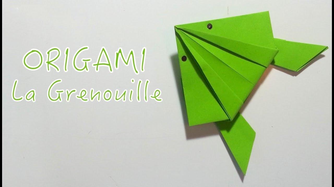 Origami n 1 la grenouille en papier youtube - Faire grenouille en papier ...