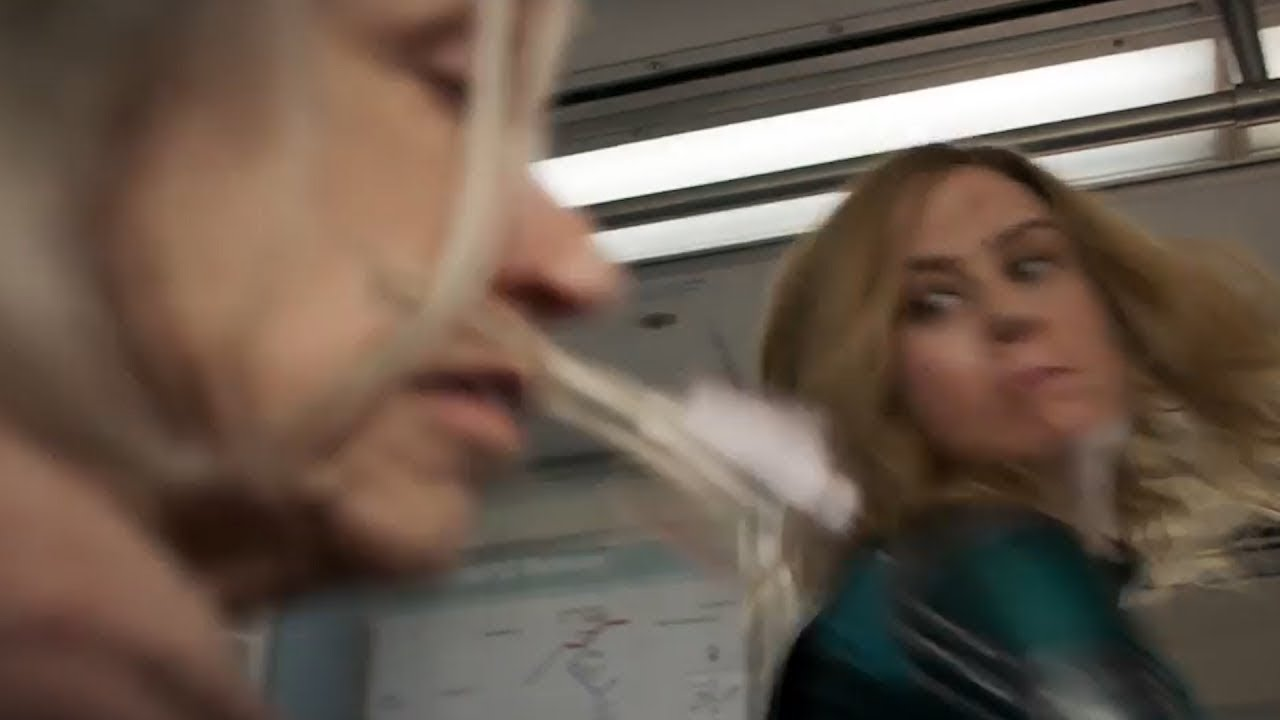captain marvel punches old lady in the face!