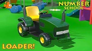 Construction for Kids - Mister LOADER Numbers School Cartoon for Kids! [건설, 자동차, 트랙터, 시멘트 트럭]