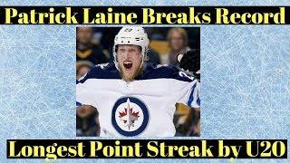 Winnipeg Jets Laine Record Point Streak
