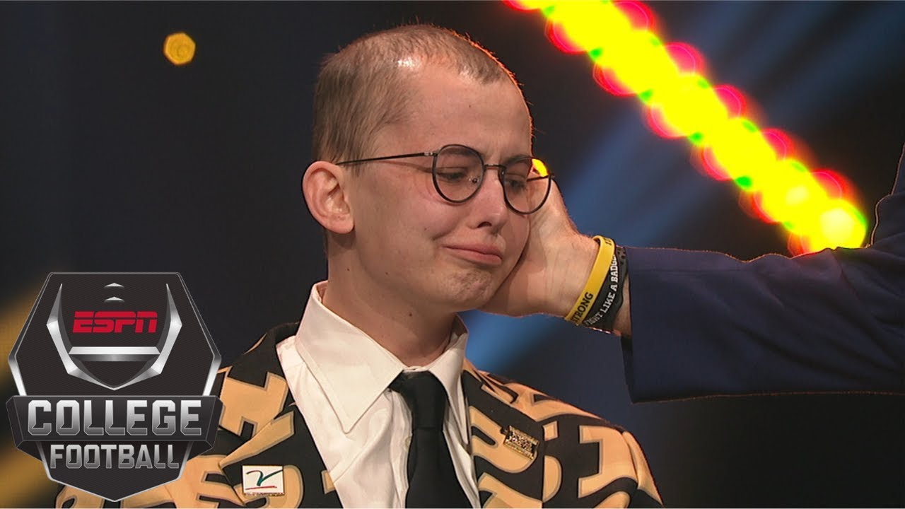 Purdue superfan Tyler Trent humbly accepts Disney Spirit Award ...