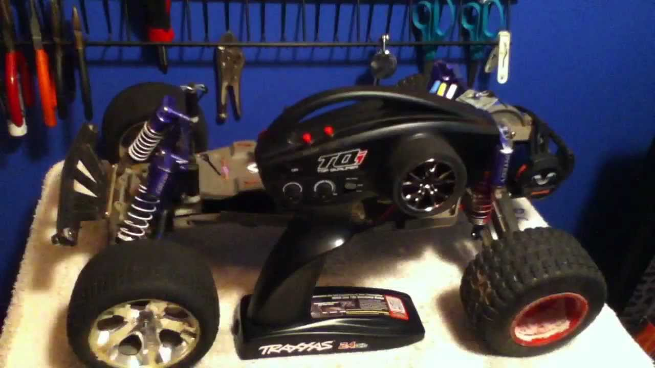 My Traxxas 2.4ghz TQi Transmitter and Receiver - YouTube