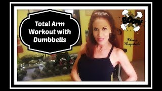 Total Arm Workout Using the Dumbbells! #StrengthShapeSize