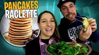 Je fais des pancakes à la raclette pour Valouzz 🧀