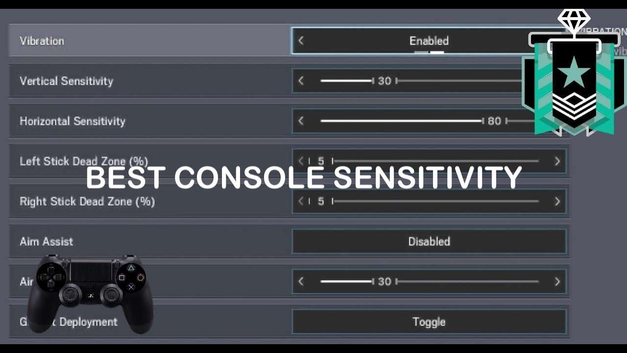 Best Console Sensitivity - Rainbow Six Siege