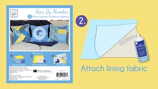 Sew By Number Pillows Step 2 - Attach lining fabric