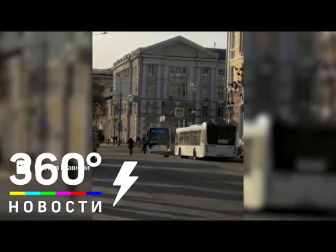 От водителя в Ростове-на-Дону сбежал автобус
