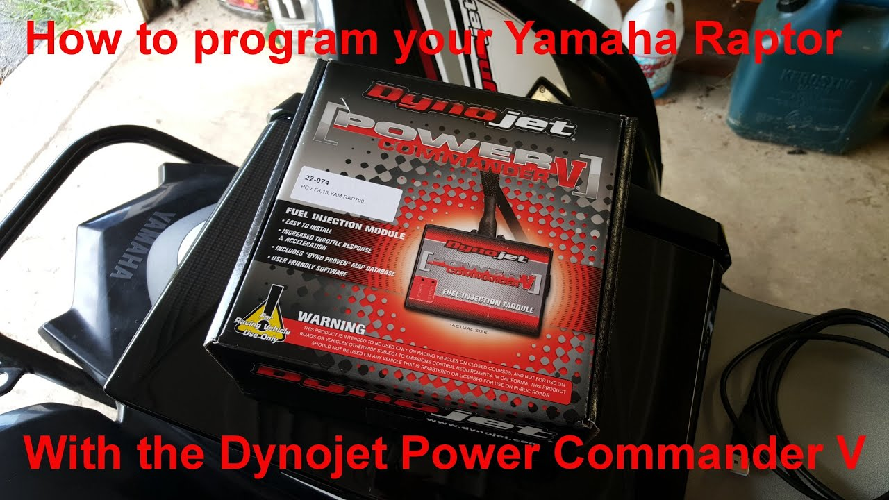 medium resolution of how to program your yamaha raptor using the dynojet power commander v