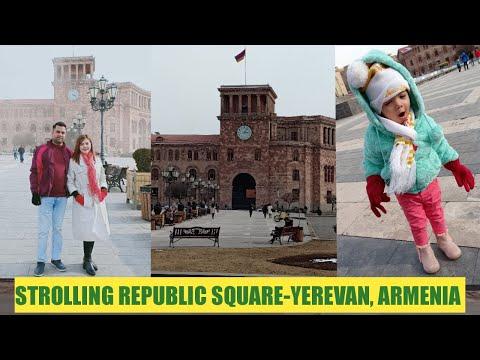 STROLLING REPUBLIC SQUARE-YEREVAN, ARMENIA