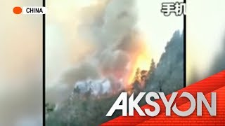 Forest fire sa China