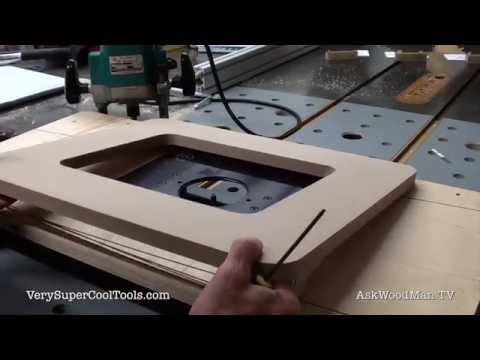 869. Using The JessEm Router Template To Cut Insert Opening