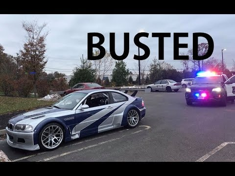 NFSMW M3 GTR GOT PULLED OVER LOL