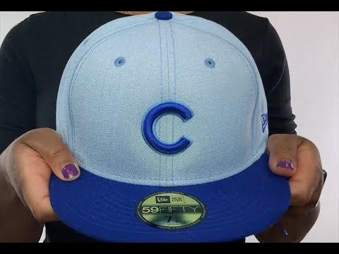 bce563bf Cubs '2018 FATHERS DAY' Sky-Royal Fitted Hat by New Era - YouTube