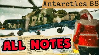 ANTARCTICA 88 - ALL NOTES! How to find all the NOTES! Horror Action Game [Android - iOS] Survival