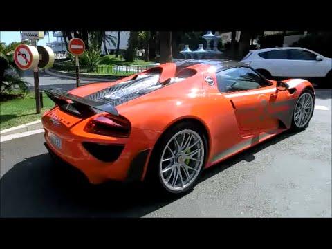 orange porsche 918 spyder loud acceleration youtube. Black Bedroom Furniture Sets. Home Design Ideas