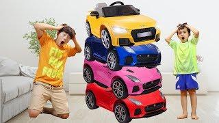 자동차 장난감 마법 변신놀이! Mashu ride on cars and Magic transform colored cars like BoramTube