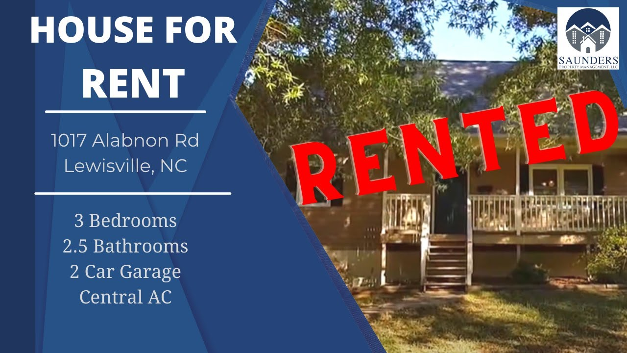"""Winston Salem Homes for Rent"" 1017 Alabnon Rd Lewisville ..."