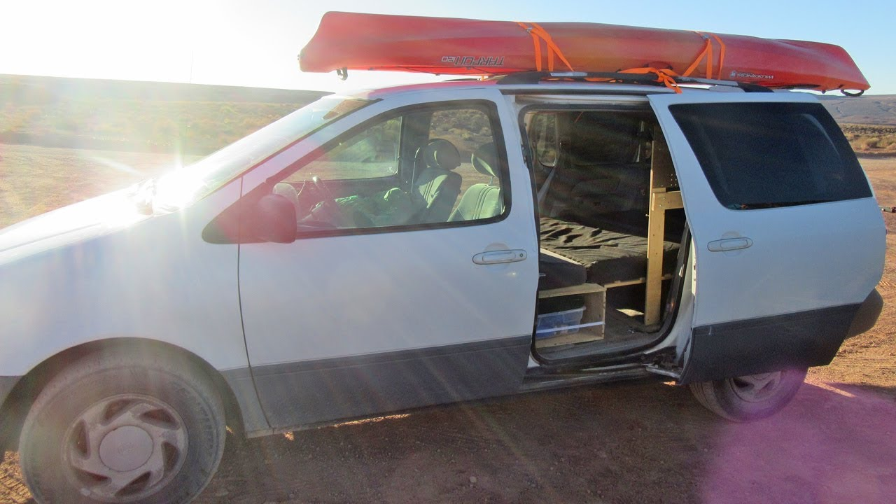 Minivan Camper Conversion And Tour DIY Adventure Van Build