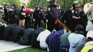 PEPPER SPRAY: UC Davis students
