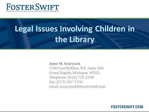 Legal Issues involving Children in the Library