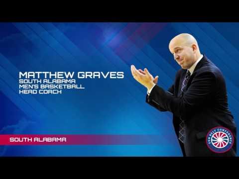Sun Belt Post Season MBB Teleconference: South Alabama Head Coach Matthew Graves
