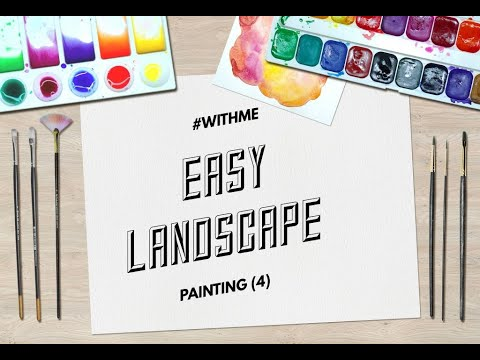 Easy Landscape Painting For Beginners (Step by Step)