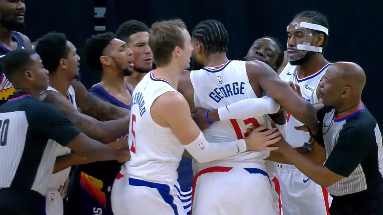 "Devin Booker calls Paul George a ""soft a$$ n****a"" Suns vs Clippers"